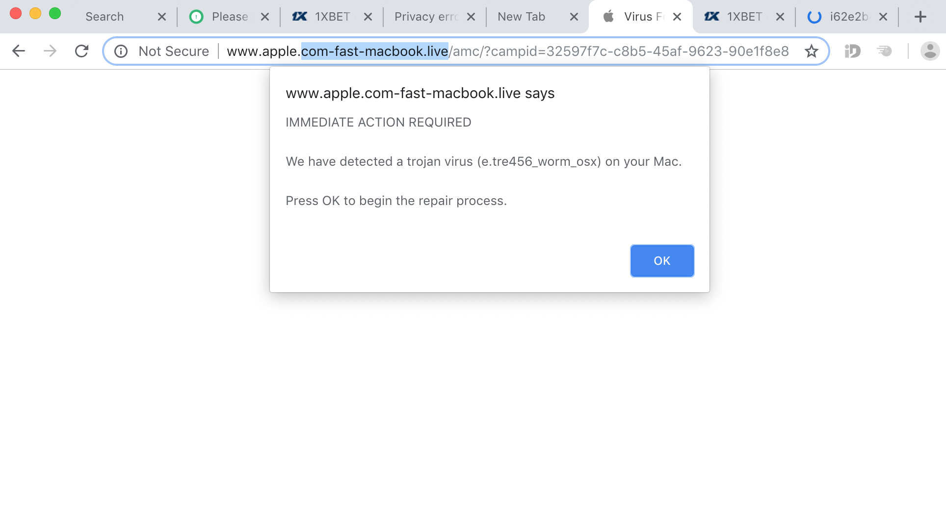 Apple.com-fast-macbook.live scam