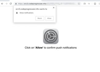 Codeprogressee.info pop-up