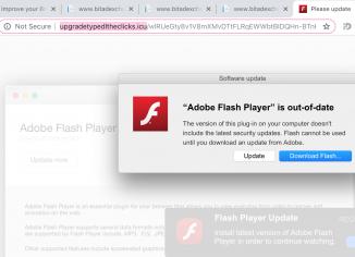Upgradetypedltheclicks.icu fake Adobe Flash Player update