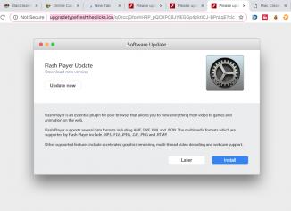 Upgradetypefreshtheclicks.icu fake Adobe Flash Player alert