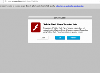 Impound.top fake Adobe Flash Player update alert