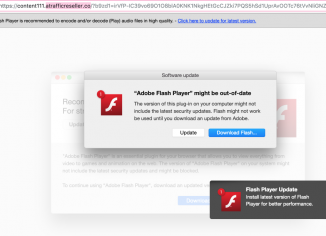 Atrafficreseller.co fake Adobe Flash Player alert