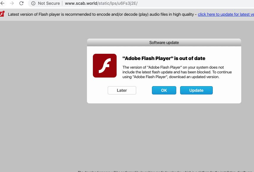 Scab.world fake alert on Mac