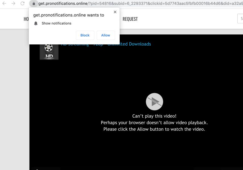 Get.pronotifications.online pop-up virus