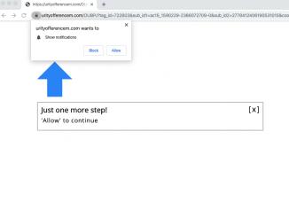 Urityofferencem.com misleading pop-up