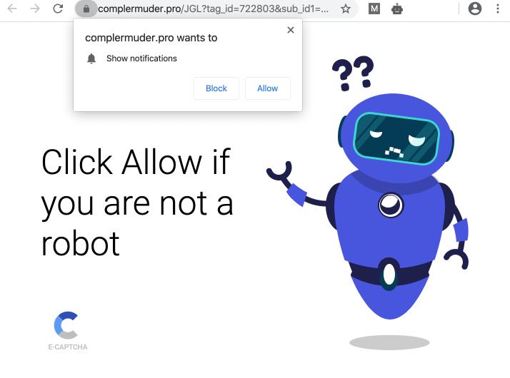 Complermuder.pro web push notifications