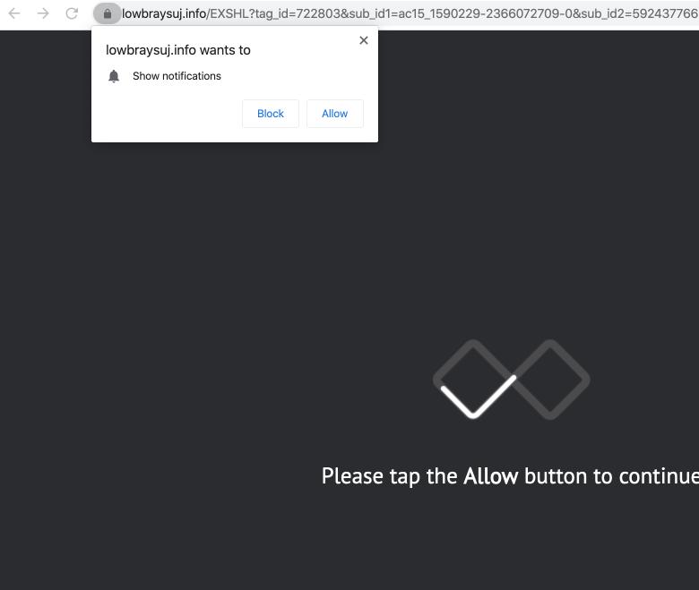 lowbraysuj.info web push notifications