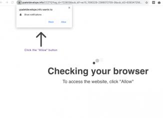 Ypaletdevelspe.info redirect malware