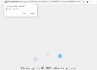 Mentiopportal.pro push notifications