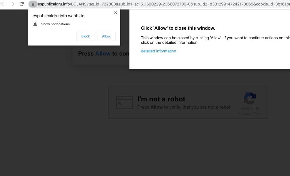 Espublicaldru.info redirect malware
