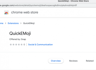 QuickEMoji unwanted extension