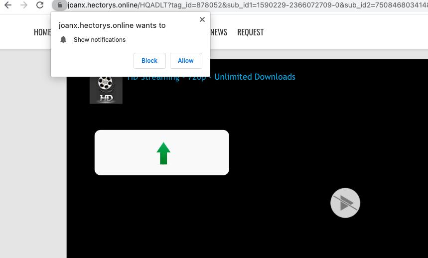 Hectorys.online notifications