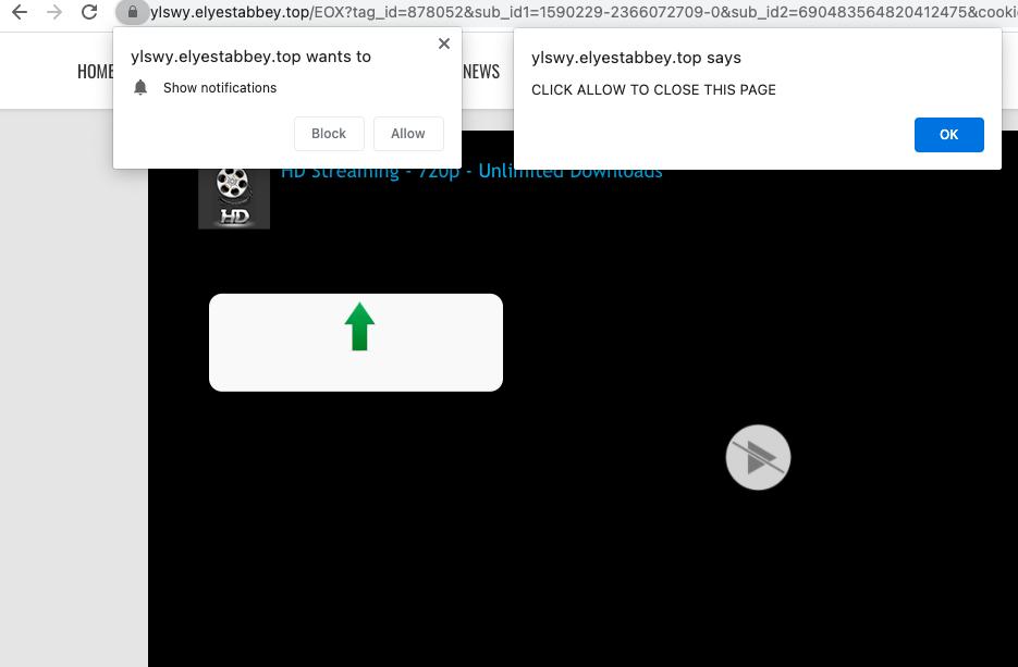 Elyestabbey.top push notifications