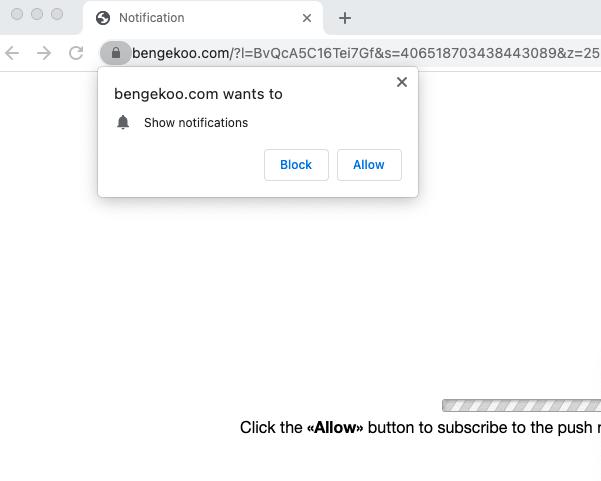 Bengekoo.com pop-up notifications