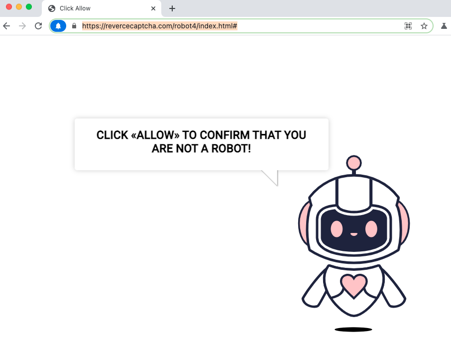 Revercecaptcha.com pop-up ads